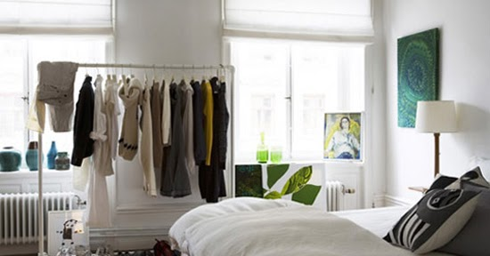 A simple kind of life clothes on display tips storage - Storage solutions for small closets ...
