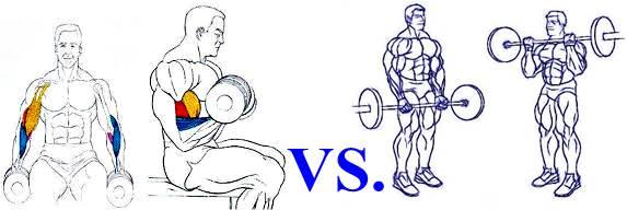 Es mejor alzar pesas de pie o sentado