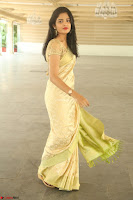 Harshitha looks stunning in Cream Sareei at silk india expo launch at imperial gardens Hyderabad ~  Exclusive Celebrities Galleries 025.JPG