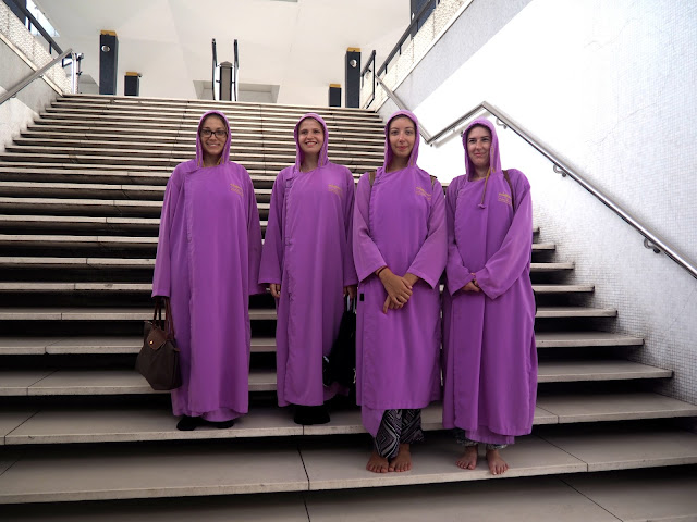 Robes to enter the National Mosque, Kuala Lumpur, Malaysia