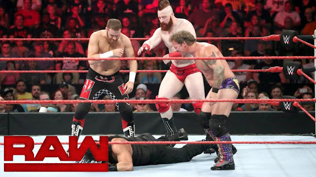 WWE Monday Night Raw Roman Reigns Sami Zayn Chris Jericho Sheamus Fatal 4-Way
