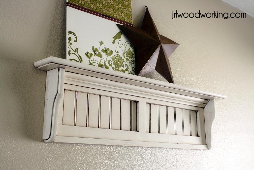 Furniture Plans 4 Foot Beadboard And Batten Wall Shelf