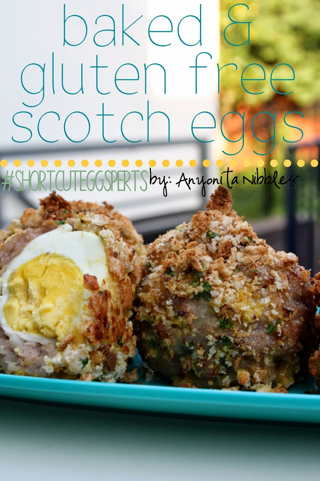 These Baked & Gluten Free Scotch Eggs are a British picnic staple. From Anyonita Nibbles