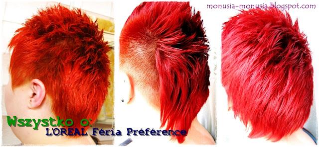 Wszystko o: L'oreal Feria Preference - jak stosować, efekt farbowania odcieni P67, P76, P78