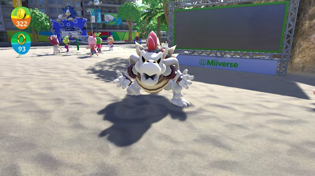 Dry Bowser Mario & Sonic at the Rio 2016 Olympic Games Wii U challenge boss