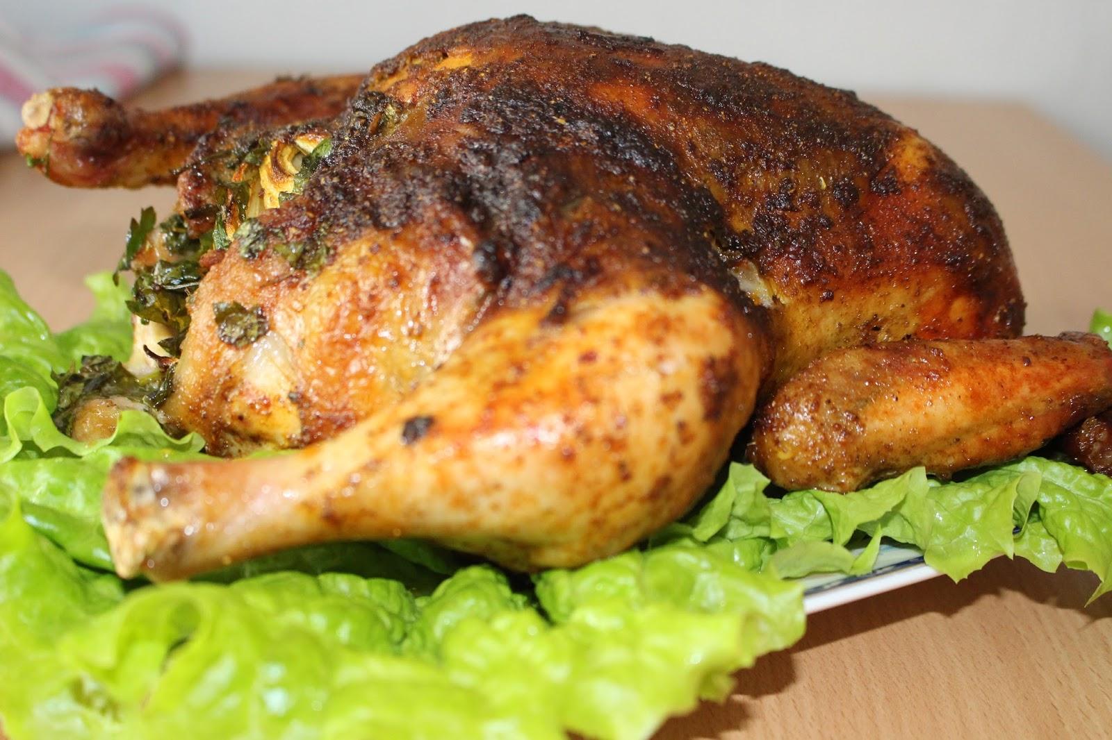 Na Moim Stole Chrupiacy Pieczony Kurczak W Calosci