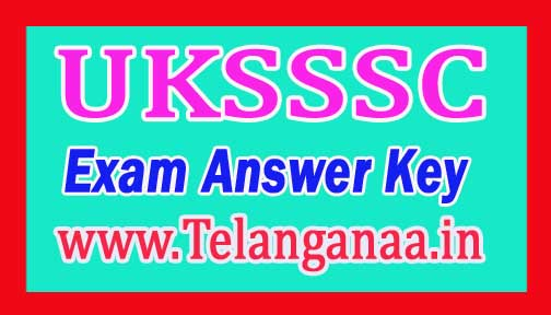 UKSSSC ARO 4th Dec Exam Answer Key 2016