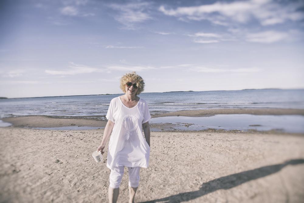 Agencies Turquoise, Pori, Yyteri, oloasu, valkoinen, kesä, ranta, trikoo, puuvilla, asu, kesäasu, Cafelatte, lifestyle,