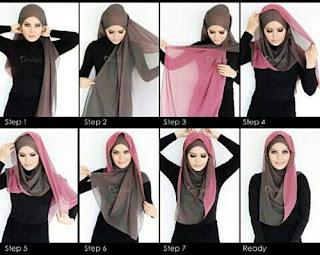 Tutorial Style Gaya Hijab Pashmina Bahan Sifon Bolak Balik yang Simple, Trendy, Modern, Untuk Wajah Bulat Sangat Pas Untuk Ke Pesta
