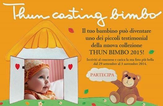 Logo Premi per tutti i partecipanti al ''Thun Casting Bimbo''