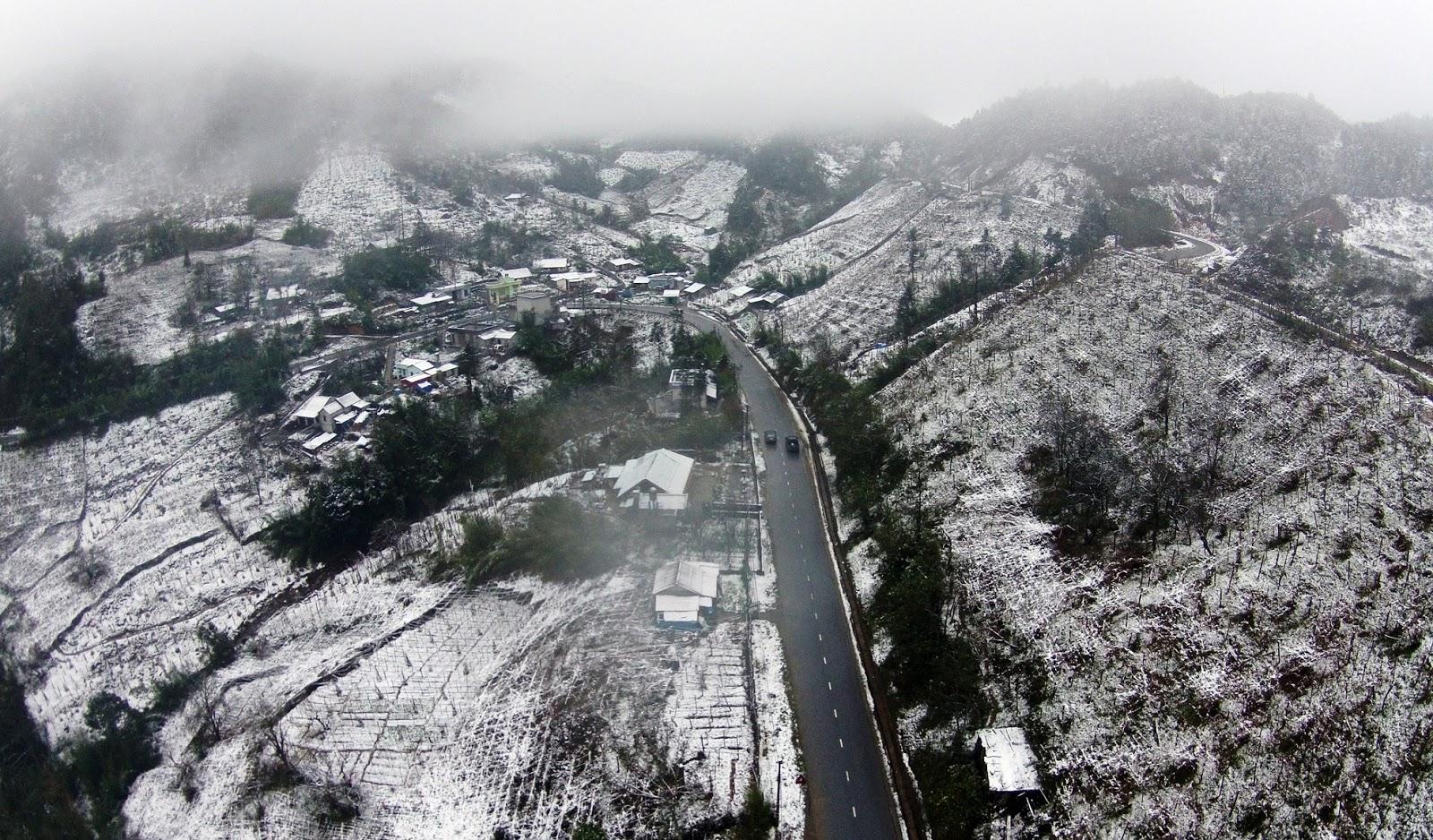 Trong tháng 12, Sa Pa rất dễ có băng tuyết rơi