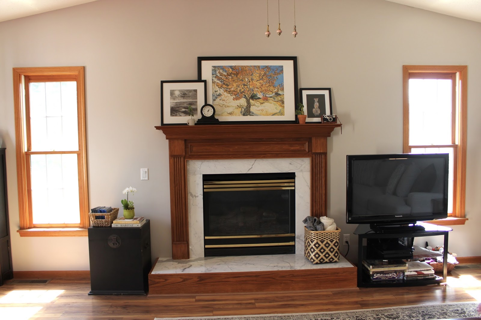 How to remove the gold on a fireplace