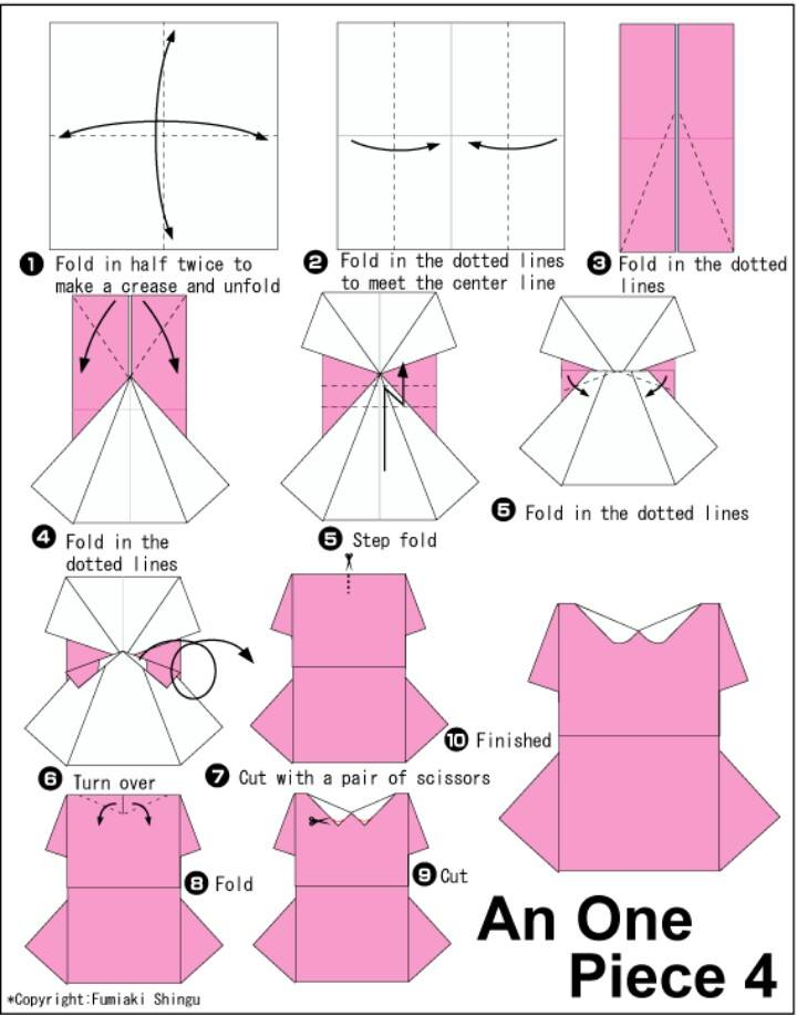 Cara Membuat Baju Wanita Dari Origami | Tutorial Origami