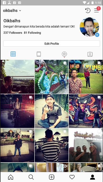Daftar Kiriman Pribadi di Instagram.