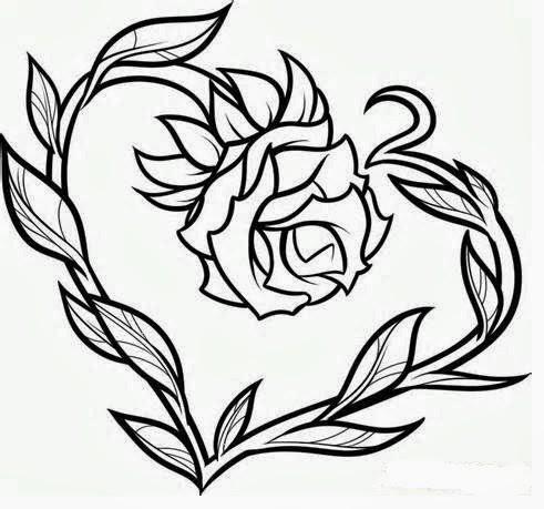 Tattoos Book: +2510 FREE Printable Tattoo Stencils: Rose tattoo stencils