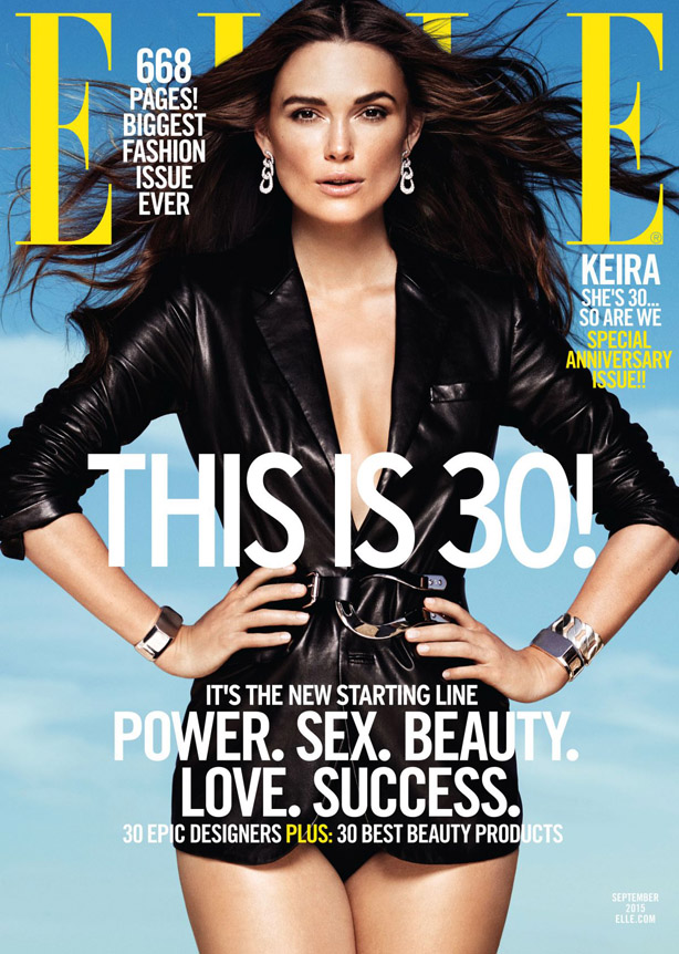 Keira Knightley four covers of the magazine ELLE