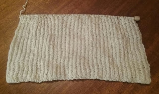 Brioche stitch, 1855 knit undersleeve from Godey's.