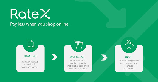 Online shopping with instant cash back @ RateX and RateS