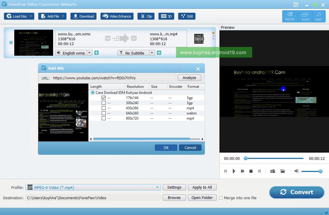 FonePaw Video Converter Ultimate kuyhaa