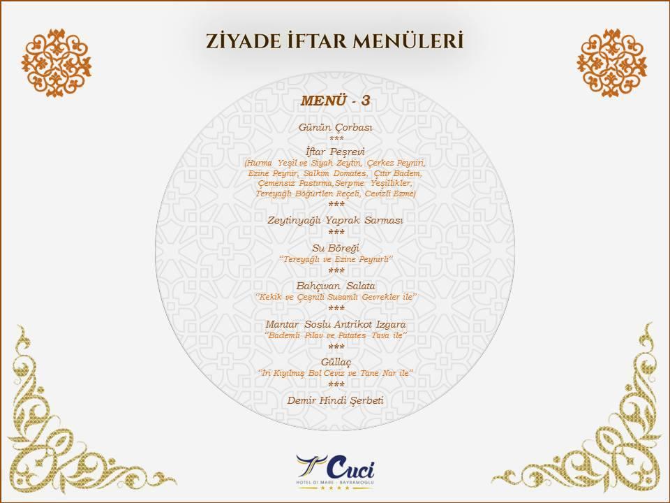 cuci hotel bayramoğlu kocaeli iftar menü fiyatlar