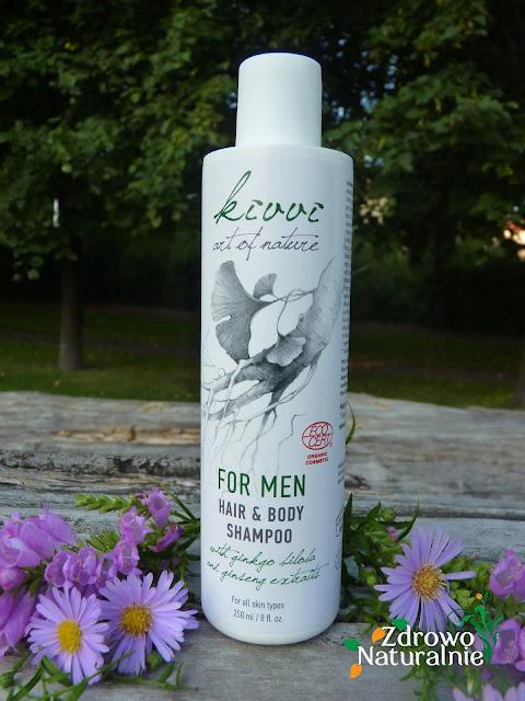Kivvi Cosmetics - FOR MEN - Żel do mycia ciała oraz włosów z Ginkgo biloba i żeń-szeniem 250ml