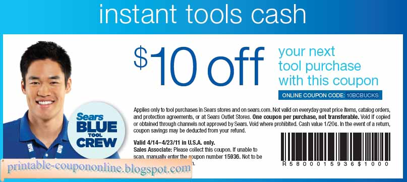 Discount coupon for sears
