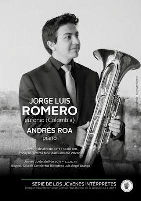 JORGE LUIS ROMERO, EUFONIO, ANDRÉS ROA, PIANO