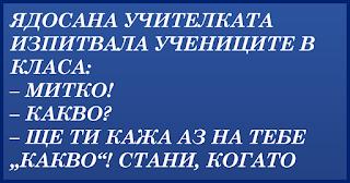 ВИЦОВЕ ~ Ядосана учителката изпитвала учениците в класа