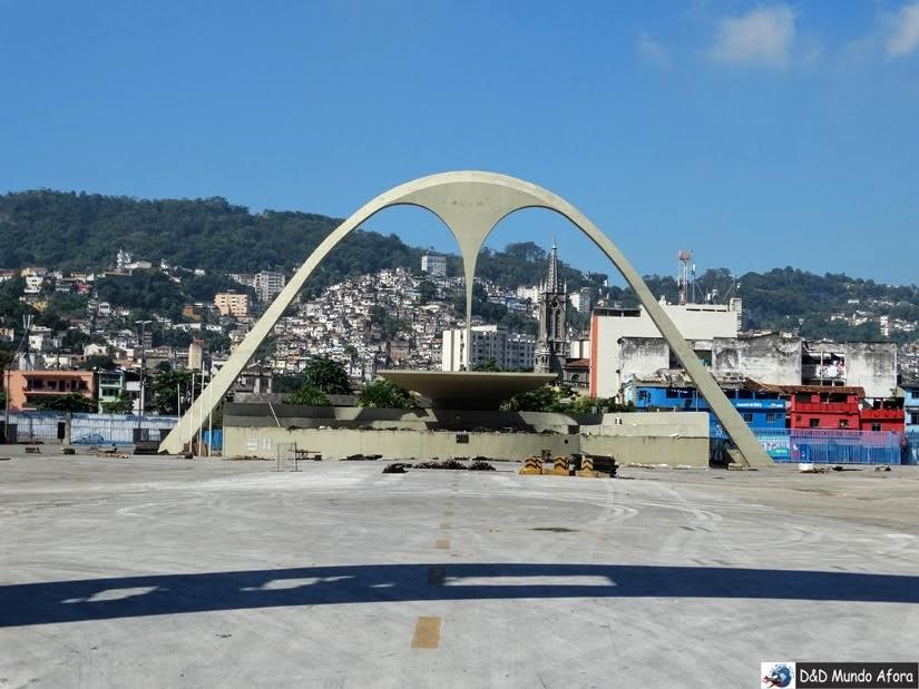 Sambódromo no Rio de Janeiro fora do carnaval