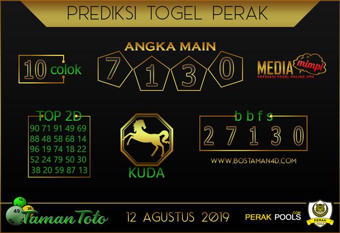 Prediksi Togel PERAK TAMAN TOTO 12 AGUSTUS 2019