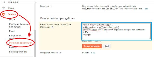 Cara Redirect Page Not Found 404 Ke Halaman/Page Lain