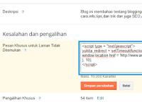Cara Redirect Page Not Found 404 Ke Halaman/Page Lain