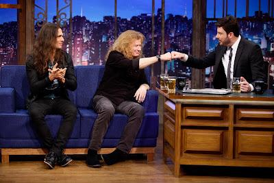 Kiko, Dave e Danilo durante entrevista (Crédito: Gabriel Cardoso/SBT)
