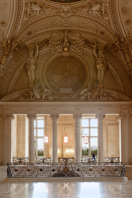 Opulent and breathtaking Paris Cafe Mollien in the Louvre - found on Hello Lovely Studio