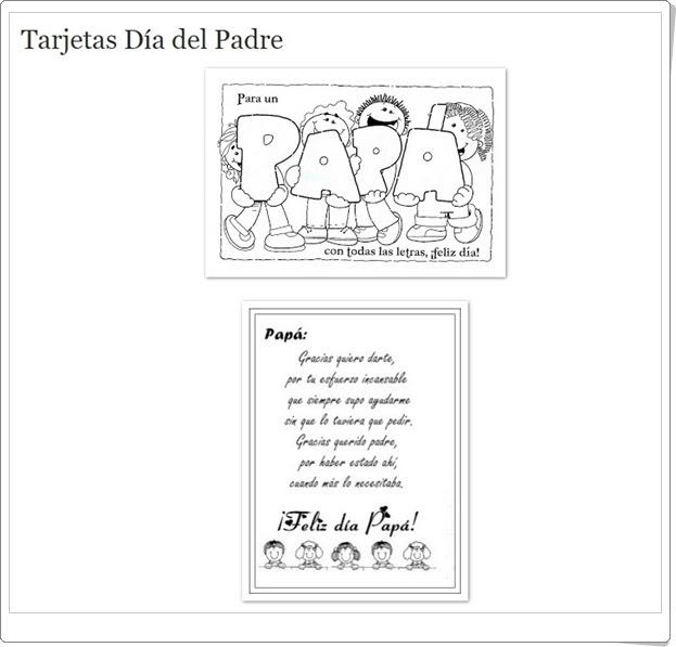 """Materiales didácticos para la celebración del """"Día del Padre"""""""