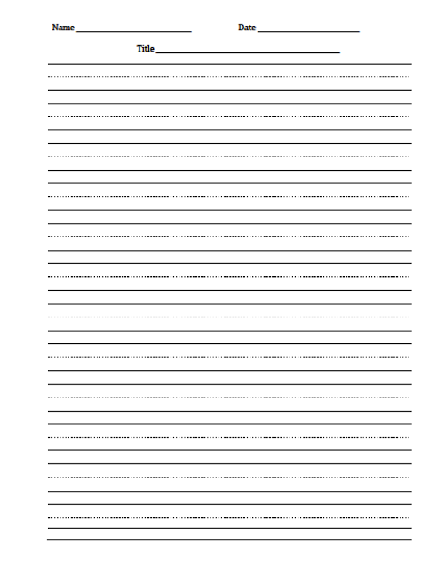 printable penmanship paper