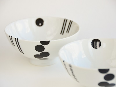 モダンデザインな夫婦茶碗