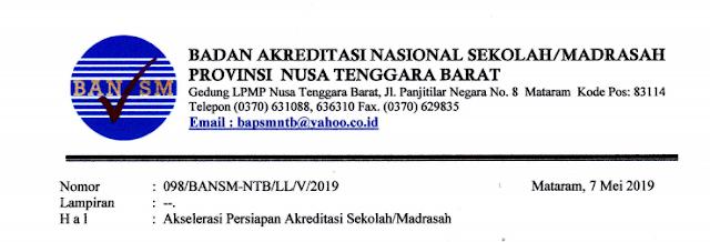 Surat Himbauan Pengisian Data Isian Akreditasi