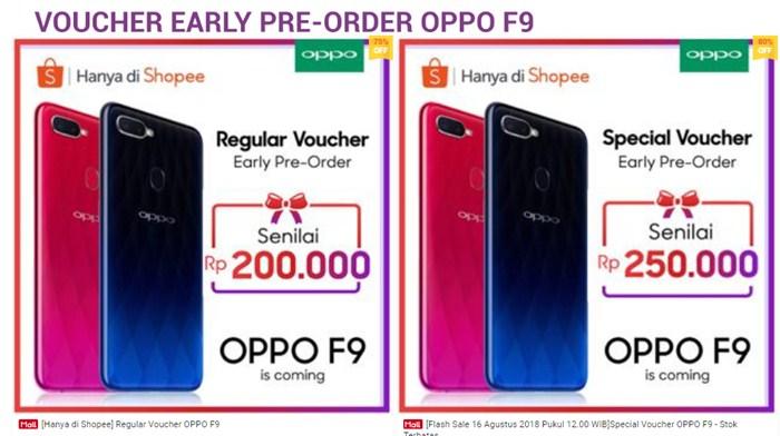 Promo 17 Agustus 2018 Beli Oppo F9 - Shopee.co.id