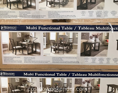 Costco 2000792 - Place the Klaussner Gate Leg Table anywhere in your home