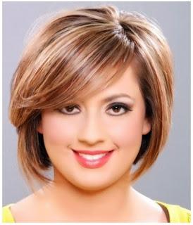 model rambut pendek yang cocok untuk wanita gemuk