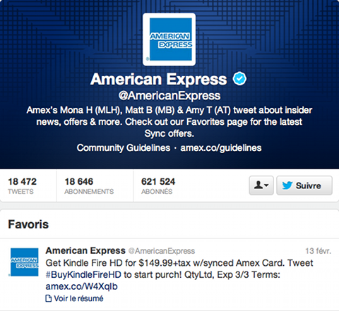 Card Sync (American Express) sur Twitter