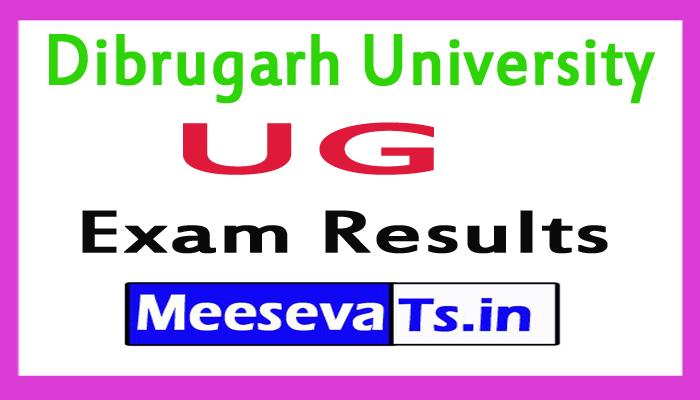 Dibrugarh University UG Exam Result