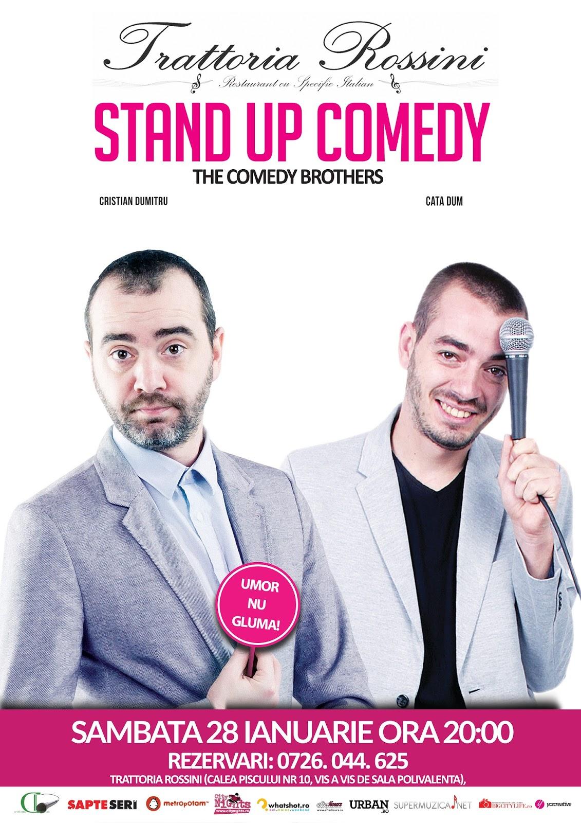 Stand-Up Comedy Sambata 28 ianuarie Bucuresti |Trattoria Rossini