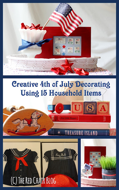 Creative DIY 4th Fourth of July easy decorating ideas using household items The Red Chair Blog