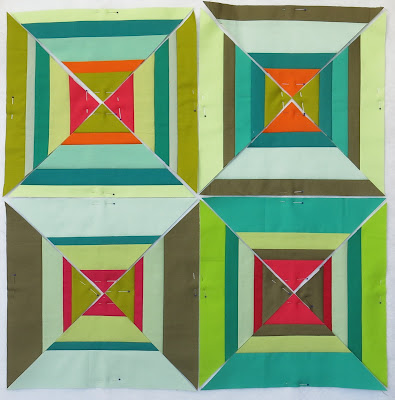 Luna Lovequilts - Workshop with Maryline Collioud-Robert - First blocks of personal project