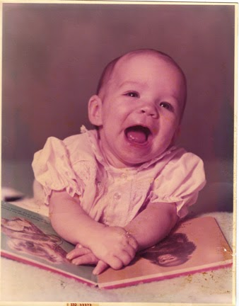 Vintage Baby Portrait Scrapbook Layout
