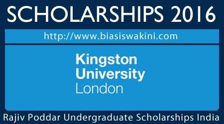 Rajiv Poddar Undergraduate Scholarships India 2016