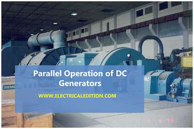 Parallel Operation of D.C. Generators