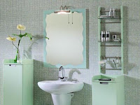 green bathroom decor